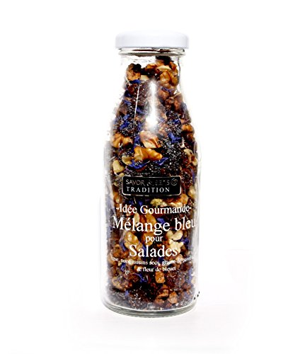 Mélange bleu pour Salades, blaue Salatmischung mit Feigen, Walnüssen, Rosinen, Mohn, Kornblumen aus Frakreich, 150g