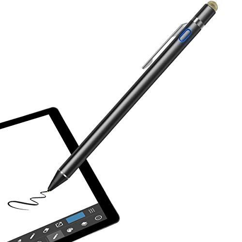 Sotical Stylus Stift, Kompatibel mit iOS Android Geräten iPhone 8 iPad Galaxy Huawei Tablet Elektronischer Kapazitanzstift aktiver Eingabestift 1,6mm ultrafeiner Spitze Kugelschreiber Mit Haken