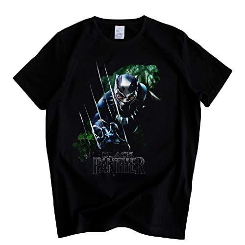 Black Panther Camiseta Camiseta Deportiva de Tejido Transpirable Joker Fashion Trend Preferred Unisex (Color : A01, Size : L)