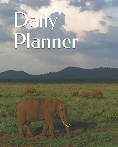 of Elephants in the Safari themed Daily Planner 365 days 8
