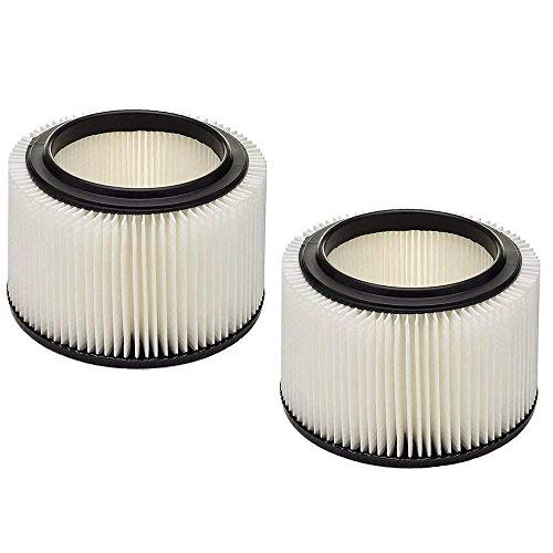VACFIT Filter für Handwerker Shop VAC Passt 3& 4Liter Patrone Filter Wet & Dry Vakuum Filter ersetzen Teil 917810 2 Pack Filter - Shop-vac Patrone Filter