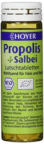 Hoyer Propolis & Salbei Lutschtabletten 60 Stück in einer Packung, 1er Pack (1 x 30 g) - Bio