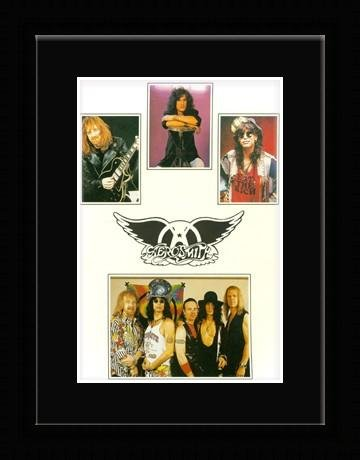 Aerosmith - Band Collage Framed and Mounted Print - 23x18cm