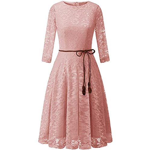 382901729f TWIFER Women s Vintage Lace Solid Spring Vintage Country Rock Cocktail  Dress Pleated Evening Ball Gowns Wedding