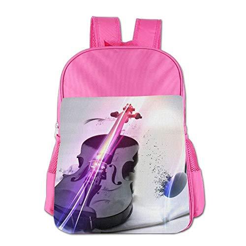htrewtregregre Music Inspiration Note Violin Schule Backpack Kinder Shoulder Daypack Kid Lunch Tote Taschen Pink