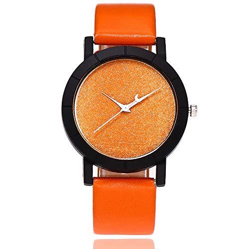 Patifia Damen Uhren Günstig, Männer Frauen Beiläufig Quarz Lederband New Strap Watch Analoge Armbanduhr Mode Leder Band runde Armbanduhr Uhren Neue Art- und Weisefrauen