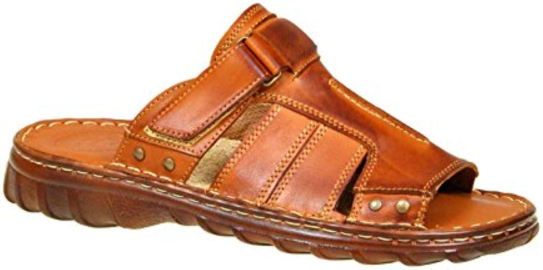 Cómodas Sandalias Cuero Búfalo Genuino Calzado Zapatos Hombres Modelo-875