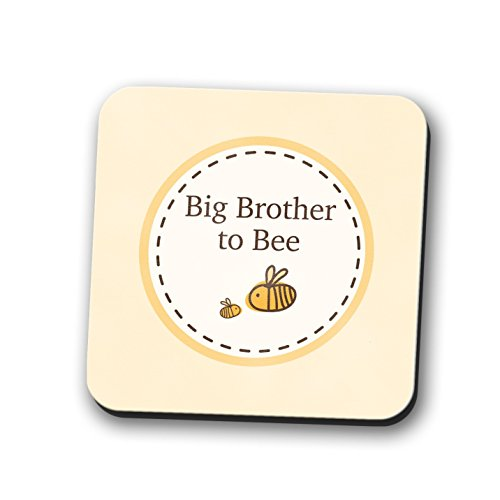 Big Brother to be Untersetzer Tischset New Baby Dusche Geschenk Bumble Bee 9cm x 9cm
