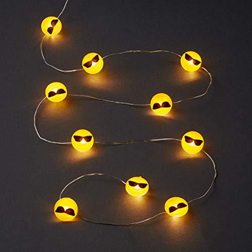 HELLUM 522952 LED-Lichterkette Smiley Emoticon (cool)
