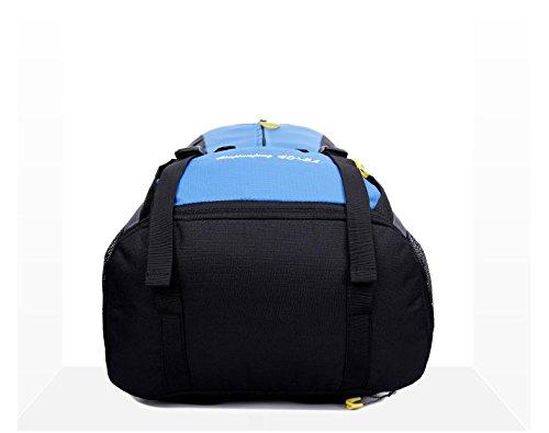 YYY-Una borsa di viaggio grande capacità di borsa di nuovo giorno all'aperto alpinismo arrampicata tempo libero zaino zaino coppia capacità zaino capacità 45L , light green Red