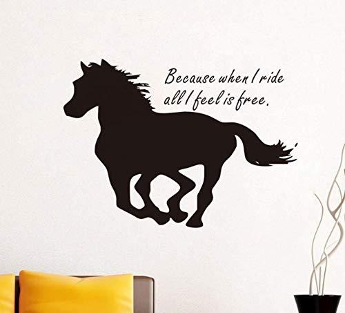 Englisch Begann, Als Ich Pferd Muster Geschnitzt Künstler Wanddekoration Wandaufkleber 42X59Cm Reiten (Ich Begann Als Kind)