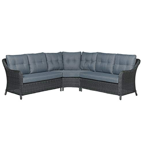 OUTLIV. Loungemöbel Outdoor Milwaukee Loungeecke 3-teilig Geflecht Gartenlounge Outdoor Lounge Garten Terrasse Balkon -
