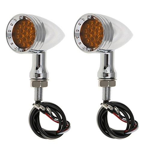 Non-brand 1 Paire De Clignotants pour Feux De Freins à Balles Super Lumineux à 20 DELs pour Moto - Jaune LED