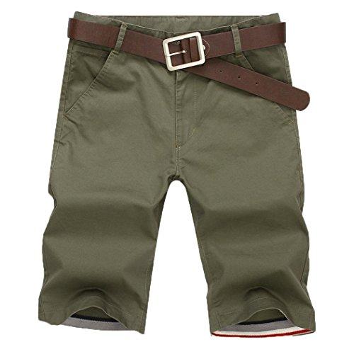 Herren Shorts Hose Bermuda Xinantime Neue Sport Mode Kosen Sommer Laufen Fitness Atmungsaktiv Cargo Arbeit Kurze Hosen Männer Grün/Schwarz/Rot/Blau/Grün/Khaki S-XXXXXL (XL, Armee grün) -