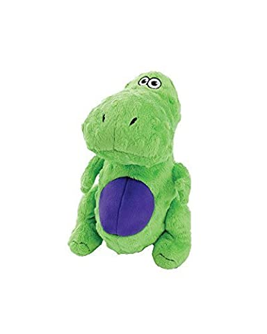 goDog Just for Me T-Rex with Chew Guard Technology Tough Plush Dog Toy, Green by Quaker Pet Group