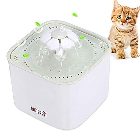 ROMEKER Trinkbrunnen Katzen Wasserbrunnen Wasserspender Hunde Katzentrinkbrunnen Katzenbrunnen Pet Water Fountain…