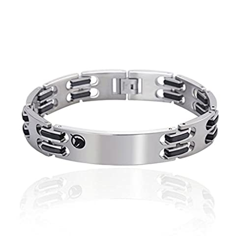 AnaZoz Fahsion Jewelry Simple Personality Men's Bracelet Stainless Steel Length