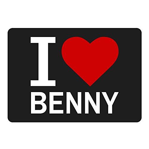 Mousepad Classic I Love Benny schwarz