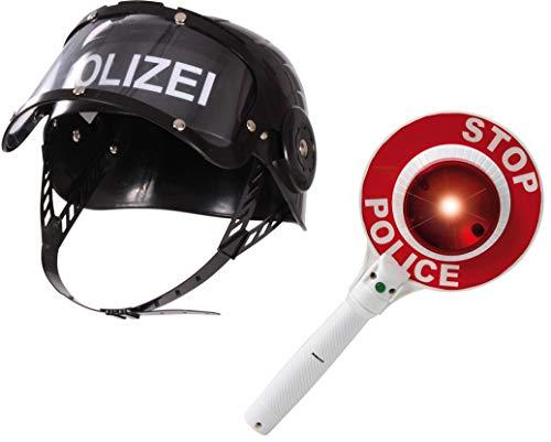 Csi Kostüm Kind - BUSDUGA 2819 Polizeihelm mit Signalkelle mit Licht