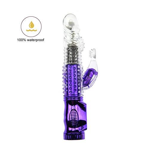 Vibǒrǎtǒr Orǎl Frauen 12 Geschwindigkeit Leistungsstarker G-Punkt-Kaninchen Vibǒrǎtors Wasserdichte weibliche Adlut-Produkte Fantastisches Spielzeug Viborǎtǒrs Realistic Water Purple