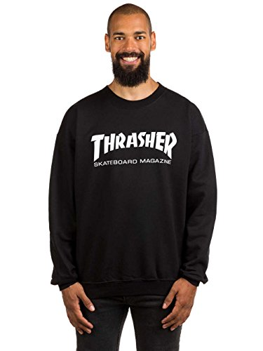 Thrasher Skate Mag Logo Crew Sweat Black X-Large