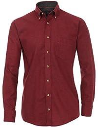 Casa Moda - Comfort Fit - Herren Langarm Flanell-Hemd mit Button-Down-Kragen (462558900A)
