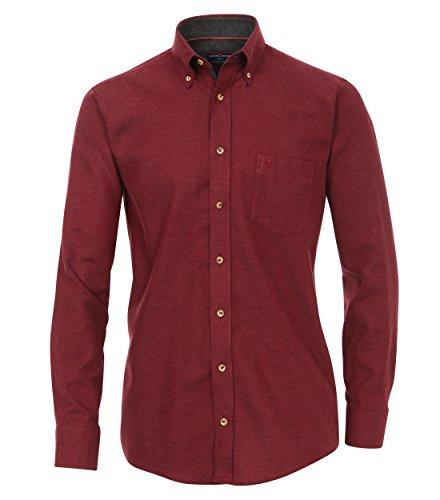 CASA Moda - Comfort Fit - Herren Langarm Flanell-Hemd mit Button-Down-Kragen (462558900A), Farbe:Rot (400), Gr??e:XXL (Button-down-flanell)