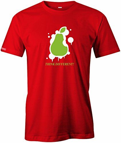 Birne Ipad (THINK DIFFERENT - BIRNE - HERREN - T-SHIRT in Rot by Jayess Gr. XXL)