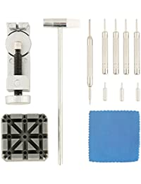 Relojero Juego de herramientas de jyoker 12pcs pulsera Reparación con reloj de pulsera Strap Cadena Perno Remover para Relojero