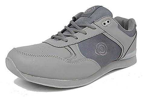 Dek Drive & Jack Mens Bowling Shoes (9 UK, Grey - Lace up)
