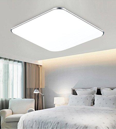 SAILUN 18W Kaltweiss Ultraslim LED Deckenleuchte Modern Deckenlampe Flur Wohnzimmer Lampe Schlafzimmer Kuche Energie Sparen Licht Wandleuchte Farbe Silber