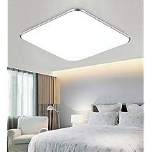 36W fresco blanco LED moderna lámpara de techo de plata Ultraslim luz de techo dormitorio cocina corredor sala de estar lámpara de luz de pared luz de ahorro de energía (blanco frío)