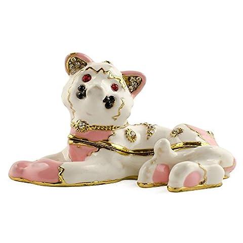 Pink Kitten Damen Schmuckkästchen, emailliert