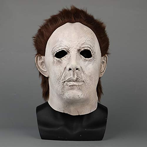 Film Halloween Mike Mel Maske Halloween Grimasse Horror Latex Kopfmaske Cosplay Maskerade Kostüm Masken,B-OneSize