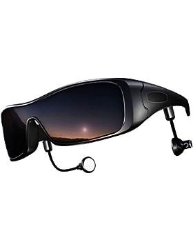 DCCN Bluetooth Gafas de sol polarizadas UV400 Gafas motocicleta bicicleta gafas con estéreo Bluetooth Auriculares...