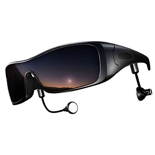 DCCN Bluetooth polarisierte Sonnenbrille UV400 Fahrradbrille Motorradbrille Bikebrille mit Stereo Bluetooth Kopfhörer für iPhone /Android Handy