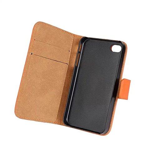 iPhone 4 4S Schutzhülle,COOLKE [Schwarz] Flip Cover für iPhone 4 4S Schutzhülle Hülle Schutzschale Schale Handytasche Tasche Etui Case Lila
