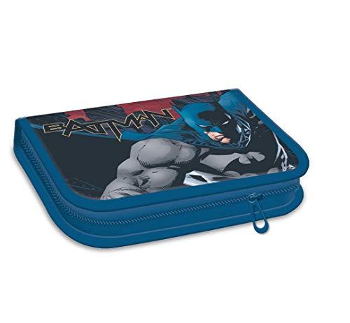 Batman pennarelli 1zip riempito–astuccio portapenne per l' inizio della scuola–con una cerniera ideale anche per la scuola materna in asilo