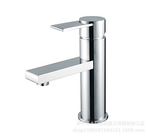 dahuuyus estilo moderno elegante y práctico hogar cocina y baño faucetssingle agujero grifo de lavabo grifo grifo y la oferta especial más vendida lavabo lavabo grifo grifo para lavabo, cromo cobre cromado plata cepillado Plata