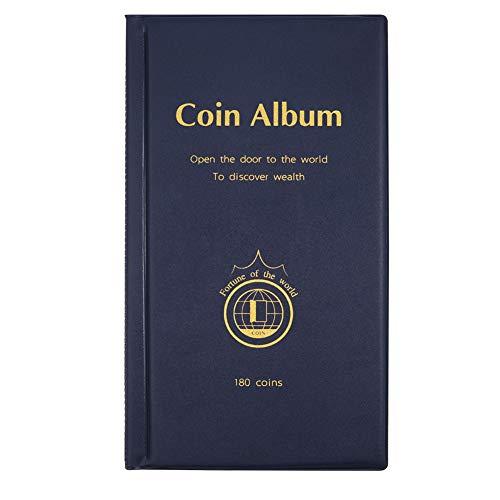 ünzsammlung Münzalbum,Münzen Sammelalbum Geeignet für Münzdurchmesser Weniger als 4,2 cm Münzen Aufbewahrung (Blau) ()