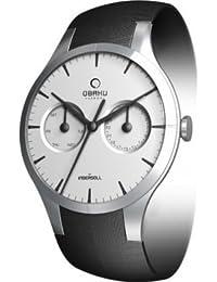 Obaku Harmony V100G CIRB - Reloj analógico de caballero de cuarzo con correa de piel negra