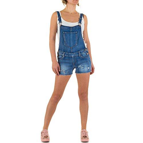 Damen Shorts Destroyed Cargo Bermuda kurze Hose Hotpants Jeans Hot Pants Latzhose Blau 40