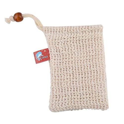 jkfui Exfolating Soap Saver Pouch,Sisal Seife Pouch,Soap Saver Bag,Für Schaum und Trocknen von Seifen, Peeling, Massage, Bio -Seife Taschen mit Seil(None Picture Color) -