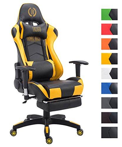 Silla gaming amarilla en cuero sintético