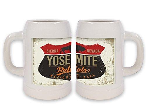 Jarra de Cerveza Trotamundos Yosemite Sierra Nevada impreso