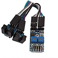 2-Channel IR Motor Test Speed Detect Velocity Sensor Module 3.3-5V