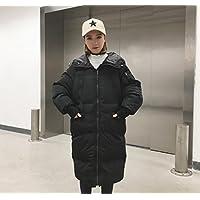 Ispessiscono il cappotto di cotone, grandi Abbigliamento dimensioni, semplice e rilassato, media lunghezza, maniche lunghe vestiti del cotone ispessisce le donne , black , s