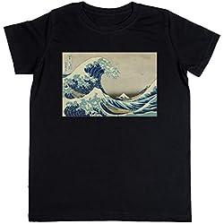 """Camiseta """"la gran ola"""" de Hokusai niños"""