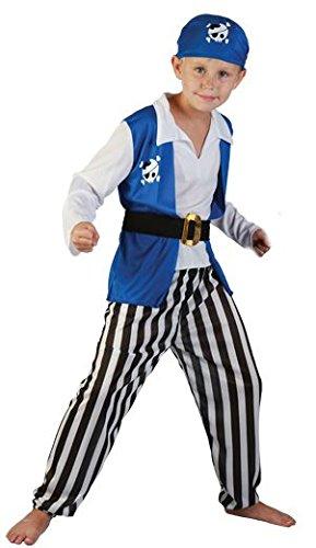 Lachen und Confetti-ficpir003-Kostüm für Kinder-Kostüm Flibustier-Jungen-Größe L