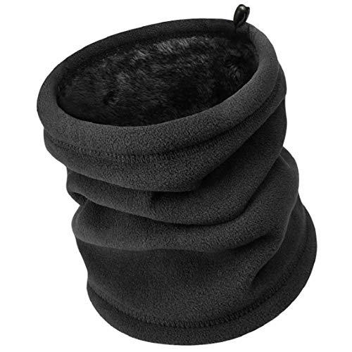 Heekpek scaldacollo in pile funzioni multiple beanie mask cervicale warmies antivento caldo scaldacollo multifunzione snowboard sport neck warmer for donna uomo (nero)